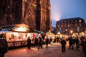 chalet au marché de Noël de Strasbourg