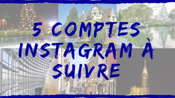 Bannière avec plusieurs photos pour l'article Instagram à suivre